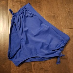 Spa Royal Blue Ruched Swim Bottom